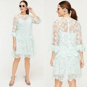 J Crew Sea Spray Chantilly Lace Dress Size 6